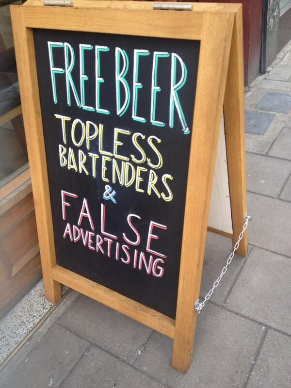 Free beer, topless bartenders & false advertising
