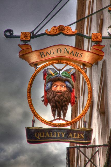 Bag O' Nails  pub sign