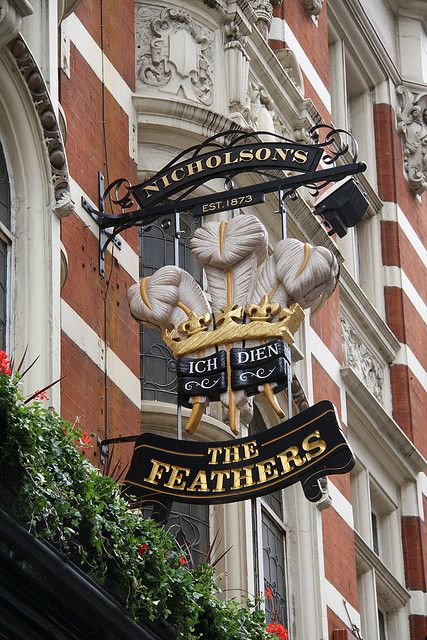 The Feathers Pub Sign