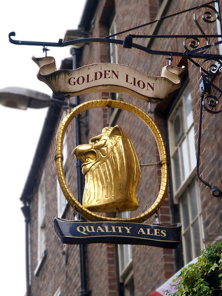 The Golden Lion Sign, York