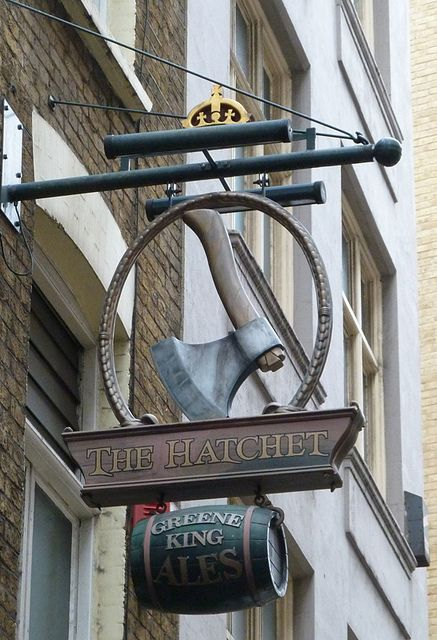 The Hatchet Pub Sign