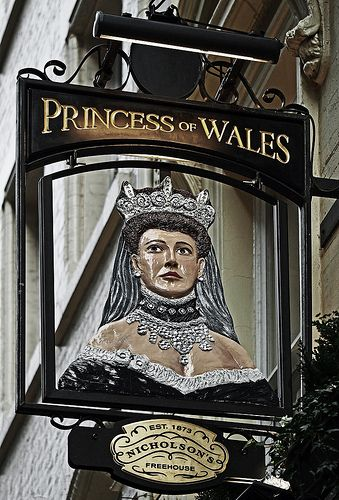 Princess of Wales Pub Sign