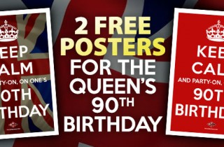 Free Queens 90th Birthday Posters